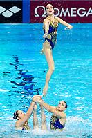 Russia RUS<br /> ARKHIPOVSKAIA A. CHIGIREVA Vlada<br /> DOROSHKO Mayya GOLIADKINA Marina<br /> KALANCHA Mikhaela KALININA Veronika<br /> KOMAR Polina SHISHKINA Alla<br /> SHUROCHKINA Maria SUBBOTINA Varvara<br /> Gwangju South Korea 18/07/2019<br /> Artistic Swimming Free Combination Preliminaries<br /> 18th FINA World Aquatics Championships<br /> Yeomju Gymnasium <br /> Photo © Giorgio Scala / Deepbluemedia / Insidefoto