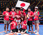 Team Japan poses for photo during the East Asian Muaythai Championships 2017 at the Queen Elizabeth Stadium on 13 August 2017, in Hong Kong, China. Photo by Yu Chun Christopher Wong / Power Sport Images