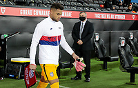 SWANSEA, WALES - NOVEMBER 12: Zack Steffen #1 of the United States walking out during a game between Wales and USMNT at Liberty Stadium on November 12, 2020 in Swansea, Wales.