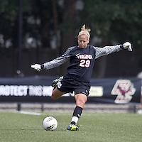 University of Virginia goalkeeper Chantel Jones (29). Boston College defeated University of Virginia, 2-0, at the Newton Soccer Field, on September 18, 2011.