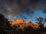 Fin and Steamboat at Sunset, Sedona, Arizona