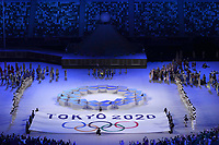 210723 -- TOKYO, July 23, 2021 -- The Tokyo 2020 emblem and flag are seen during the opening ceremony of the Tokyo 2020 Olympic Games, Olympische Spiele, Olympia, OS at the Olympic Stadium in Tokyo, Japan, July 23, 2021.  TOKYO2020XHTP-JAPAN-TOKYO-OLY-OPENING CEREMONY MengxYongmin PUBLICATIONxNOTxINxCHN <br /> 23/07/2021 <br /> Open Ceremony <br /> Photo XINHUA / Imago  / Insidefoto ITALY ONLY