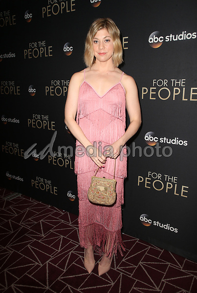 """10 March 2018-  West Hollywood, Susannah Flood. Premiere Of ABC's """"For The People"""" held at The London West Hollywood. Photo Credit: Faye Sadou/AdMedia"""