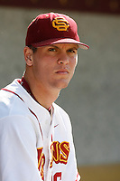 Grant Green of the USC Trojans during a game against the University of San Diego Toreros at Dedeaux Field on February 10, 2007 in Los Angeles, California. (Larry Goren/Four Seam Images)