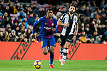 Nelson Cabral Semedo (L) of FC Barcelona is followed by Ivan Lopez Alvarez, Ivi, of Levante UD during the La Liga 2017-18 match between FC Barcelona and Levante UD at Camp Nou on 07 January 2018 in Barcelona, Spain. Photo by Vicens Gimenez / Power Sport Images