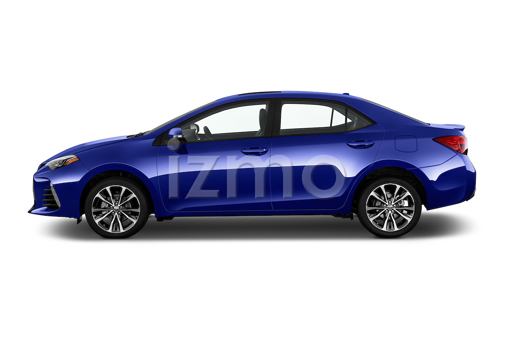 Car Driver side profile view of a 2018 Toyota Corolla XSE-AT 4 Door Sedan Side View