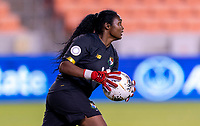 HOUSTON, TX - JANUARY 28: Yenith Bailey #1 of Panama holds the ball during a game between Costa Rica and Panama at BBVA Stadium on January 28, 2020 in Houston, Texas.