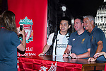 Liverpool Former Players Ian Rush (R) and Robbie Fowler (C) pose for photos while signing autographs during the Liverpool FC Supporters Club Legends Appearance at Grappa's Cellar-Jardine House on July 17, 2017 in Hong Kong, China. Photo by Marcio Rodrigo Machado / Power Sport Images