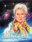 Interlitho, Jason, FANTASY, paintings, woman, unicorn, KL, KL3757,#fantasy# illustrations, pinturas