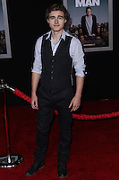 """HOLLYWOOD, CA - NOVEMBER 03: Callan McAuliffe at the Los Angeles Premiere Of DreamWorks Pictures' """"Delivery Man"""" held at the El Capitan Theatre on November 3, 2013 in Hollywood, California. (Photo by Xavier Collin/Celebrity Monitor)"""
