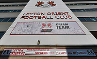 Leyton Orient FC Breyer Group Stadium where it has been reported that the Carabao Cup tie with Spurs is in doubt after a number of players at the Sky Bet League Two club tested positive for coronavirus. <br /> The next game still not updated to the board  from Saturday match against Mansfield Town.<br /> The Breyer Group Stadium, Brisbane Road, London on 21 September 2020. Photo by Vince  Mignott.
