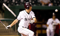 Eric Cheray (14) of the Missouri State Bears watches a hit ball bounce into the infield during a game against the Kansas Jayhawks at Hammons Field on March 27, 2012 in Springfield, Missouri. (David Welker/Four Seam Images)