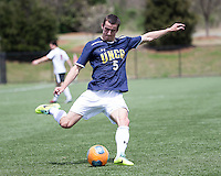 The UNC Greensboro Spartans played the University of South Carolina Gamecocks in The Manchester Cup on April 5, 2014.  The teams played to a 0-0 tie.  Brian Graham (5)