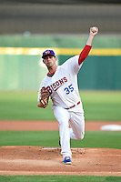 Buffalo Bisons pitcher Sean Nolin (35) delivers a warmup pitch during a game against the Gwinnett Braves on May 13, 2014 at Coca-Cola Field in Buffalo, New  York.  Gwinnett defeated Buffalo 3-2.  (Mike Janes/Four Seam Images)