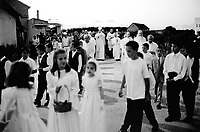 Bosnia. Medjugorje. God's celebration on may 30. Religious procession on Corpus Christi day. © 2002 Didier Ruef