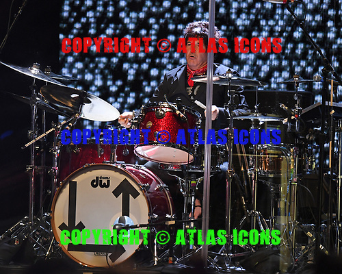 HOLLYWOOD FL - AUGUST 08: Clem Burke of Blondie performs at Hard Rock Live held at the Seminole Hard Rock Hotel & Casino on August 8, 2017 in Hollywood, Florida. : Credit Larry Marano © 2017