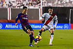 Philippe Coutinho of FC Barcelona fights for the ball with Luis Advincula of Rayo Vallecano during the La Liga 2018-19 match between Rayo Vallecano and FC Barcelona at Estadio de Vallecas, on November 03 2018 in Madrid, Spain. Photo by Diego Gouto / Power Sport Images
