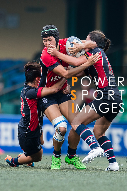 Poon Ka Yan of Lions (C) in action during the Women's National Super Series 2017 on 13 May 2017, in Hong Kong Football Club, Hong Kong, China. Photo by Marcio Rodrigo Machado / Power Sport Images