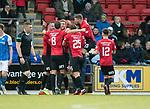 St Johnstone v Kilmarnock…02.12.17…  McDiarmid Park…  SPFL<br />Stuart Findlay celebrates his goal<br />Picture by Graeme Hart. <br />Copyright Perthshire Picture Agency<br />Tel: 01738 623350  Mobile: 07990 594431