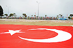 Start of Stage 1 of the 2015 Presidential Tour of Turkey running 182km from Alanya to Alanya. 26th April 2015.<br /> Photo: Tour of Turkey/Stiehl Photography/Mario Stiehl/www.newsfile.ie