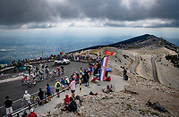 climbing over the Mont Ventoux, almost there for the descent<br /> <br /> Stage 11 from Sorgues to Malaucène (199km) running twice over the infamous Mont Ventoux<br /> 108th Tour de France 2021 (2.UWT)<br /> <br /> ©kramon