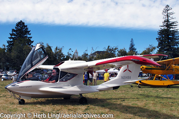 Rich Bookbinder demonstrates the ICON A5 amphibious light sport aircraft at the Clear Lake Seaplane Splash-In, Lakeport, Lake County, California