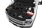 Car Stock 2017 Ford F-350 XLT-Super 4 Door Pick-up Engine  high angle detail view