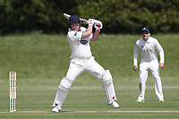 Chris Sains hits out for Hornchurch during Billericay CC vs Hornchurch CC (batting), Hamro Foundation Essex League Cricket at the Toby Howe Cricket Ground on 12th June 2021