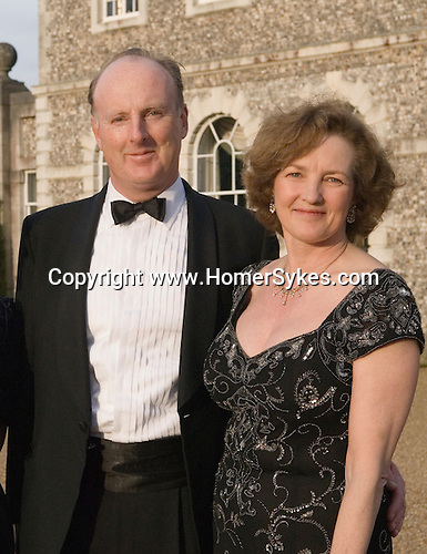 Quentin Gerard Carew Wallop,10th Earl of Portsmouth Lord and Lady The Earl and Countess of Portsmouth Cannon Ball, Farleigh House, Farleigh Wallop, Hampshire, UK 2008