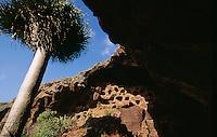 Höhlen von Cenobio de Valeron, Gran Canaria, Kanarische Inseln, Spanien