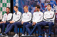 Gent, Belgium, November 26, 2015, Tennis, Davis Cup Final, Belgium-Great Britain, draw ceremonie, The team of Great Britain, <br /> Photo: Tennisimages/Henk Koster