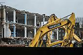 Demolition site in Hackney Wick, a former light industrial area undergoing rapid gentrification.