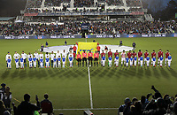 Cary, N.C. - Tuesday March 27, 2018: USMNT and Paraguay starting line up's during an International friendly game between the men's national teams of the United States (USA) and Paraguay (PAR) at Sahlen's Stadium at WakeMed Soccer Park.