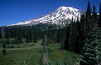 Mt Rainier with snow, Washington, USA