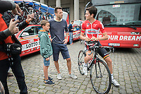 Tiesj Benoot (BEL/Lotto-Soudal) pre-race<br /> <br /> Brussels Cycling Classic 2016
