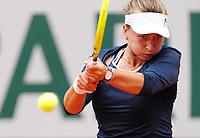 5th June 2021; Roland Garros, Paris France; French Open tennis championships day 7; Barbora Krejcikova of the Czech Republic returns the ball