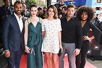 Karl Collins, Anna Passey, Sophie Austin, Duncan James and Rachel Adedeji<br /> arrives for the T.R.I.C. Awards 2017 at the Grosvenor House Hotel, Mayfair, London.<br /> <br /> <br /> ©Ash Knotek  D3240  14/03/2017