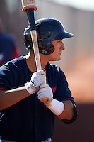 Cleveland Indians Mark Mathias (23) during an instructional league game against the Milwaukee Brewers on October 8, 2015 at the Maryvale Baseball Complex in Maryvale, Arizona.  (Mike Janes/Four Seam Images)