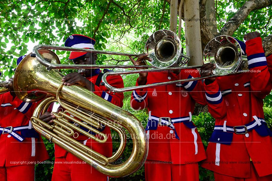 UGANDA, Kasese, St. John´s Priest Seminary Kiburara, brass band/ Priesterseminar, Blaskapelle