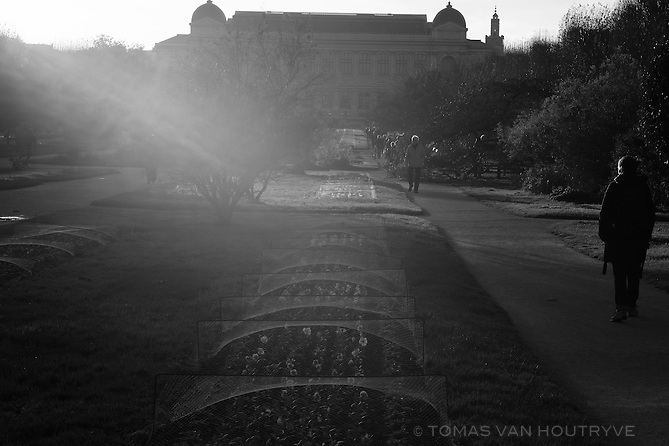 Evening light is seen in the Jardin des Plantes in Paris, France, five days after coordinated terrorist attacks struck the heart of the French capital. Parks around the city have reopened.