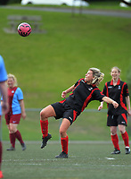 Action from the Capital Women Division 3 football match between Brooklyn Northern United Salty Pigeons and North Wellington Tawny Ports at Wakefield Park in Wellington, New Zealand on Sunday, 23 August 2020. Photo: Dave Lintott / lintottphoto.co.nz