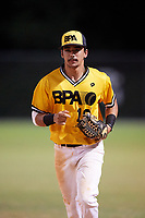 Micah Bello (19) while playing for BPA during the WWBA World Championship at the Roger Dean Complex on October 21, 2017 in Jupiter, Florida.  Micah Bello is an outfielder from Hilo, Hawaii who attends Hilo High School.  (Mike Janes/Four Seam Images)
