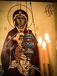 Paschal Divine Liturgy with the blessing of the eggs, St. Sava Serbian Orthodox Church, midnight in Jackson, Calif.