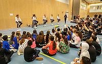 The Hague, The Netherlands, Februari 6, 2020,    Sportcampus, FedCup  Netherlands -  Balarus, Kids Press conference<br /> Photo: Tennisimages/Henk Koster