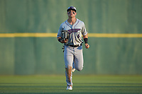 Winston-Salem Dash center fielder Steele Walker (6) jogs off the field between innings of the game against the Myrtle Beach Pelicans at TicketReturn.com Field on May 16, 2019 in Myrtle Beach, South Carolina. The Dash defeated the Pelicans 6-0. (Brian Westerholt/Four Seam Images)