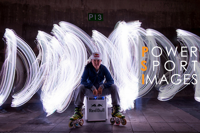Red Bull Skate Roller Athlete Una Wong pose during a photo session on May 4, 2015 in Yilan, Taiwan. Photo by Victor Fraile / Power Sport Images