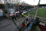Rochdale 4, Accrington Stanley 2, 03/03/2007. Scotland, EFL League 2. Rochdale (blue shirts) play visitors Accrington Stanley in a League Two fixture at Spotland, Rochdale. Both sides were struggling near the foot of the division and facing the prospect of relegation from the Football League. Rochdale won this match by four goals to two, having lead three-nil at half-time. Picture shows Rochdale fans leaving the ground after the game. The game was watched by a crowd of 3343. Photo by Colin McPherson.