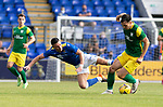 St Johnstone v Preston North End…13.07.21  McDiarmid Park<br />Michael O'Halloran loses out to Josh Earl<br />Picture by Graeme Hart.<br />Copyright Perthshire Picture Agency<br />Tel: 01738 623350  Mobile: 07990 594431
