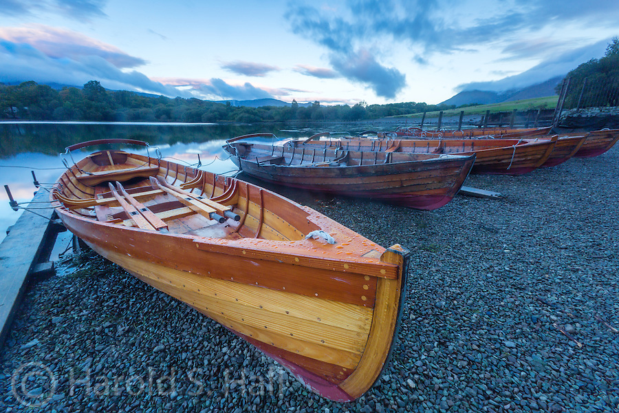 Derwentwater is a lake in the popular Lake District of England.  It is well known for the many hiking trails and fine rural landscapes.