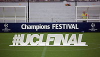 2017 05 31 Floating pitch for UEFA Champions League, Cardiff Bay, Wales, UK